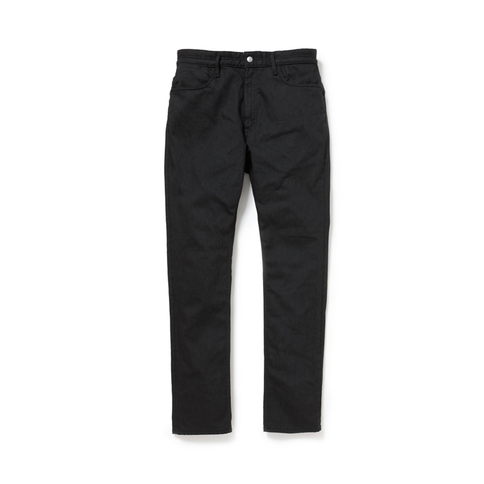 nonnative / DWELLER 5P JEANS DROPPED FIT C/P 12oz DENIM STRETCH PIGMENT COATED -black
