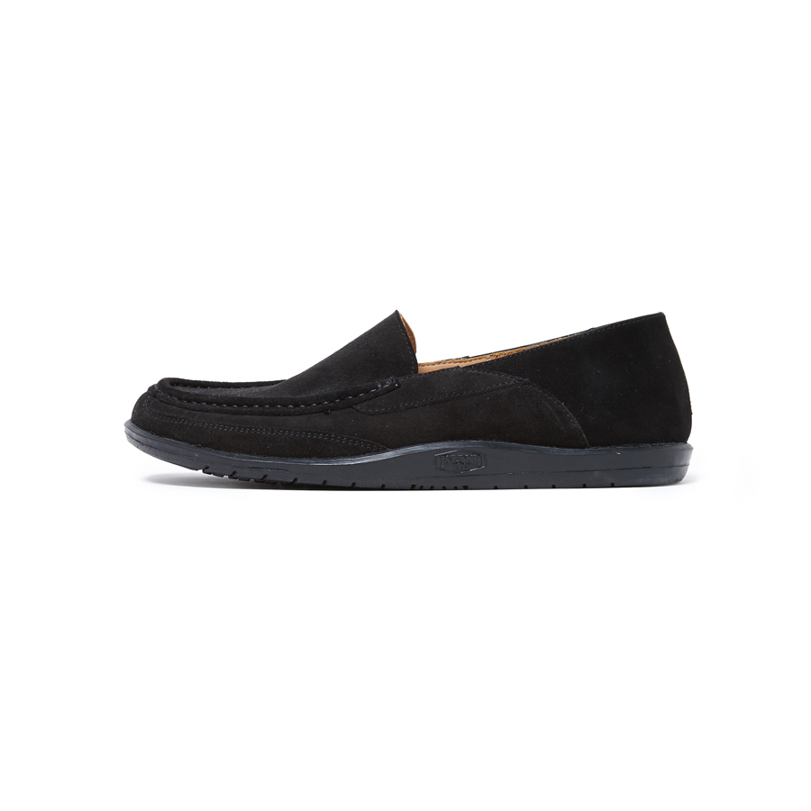 nonnative / MARINER SLIPON COW SUEDE by ISLAND SLIPPER -Black