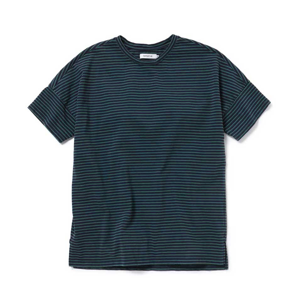 nonnative / CLERK S/S TEE COTTON JERSEY BORDER -Green