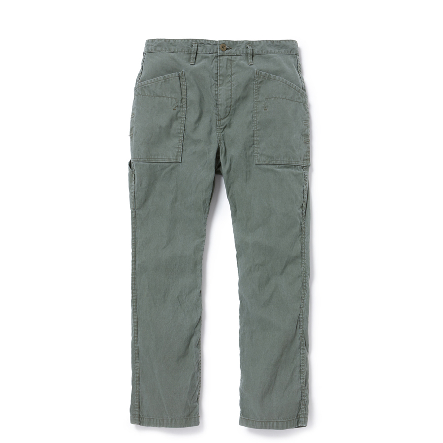 nonnative / GARDENER TROUSERS RELAX FIT COTTON COMPACT CORD -olive