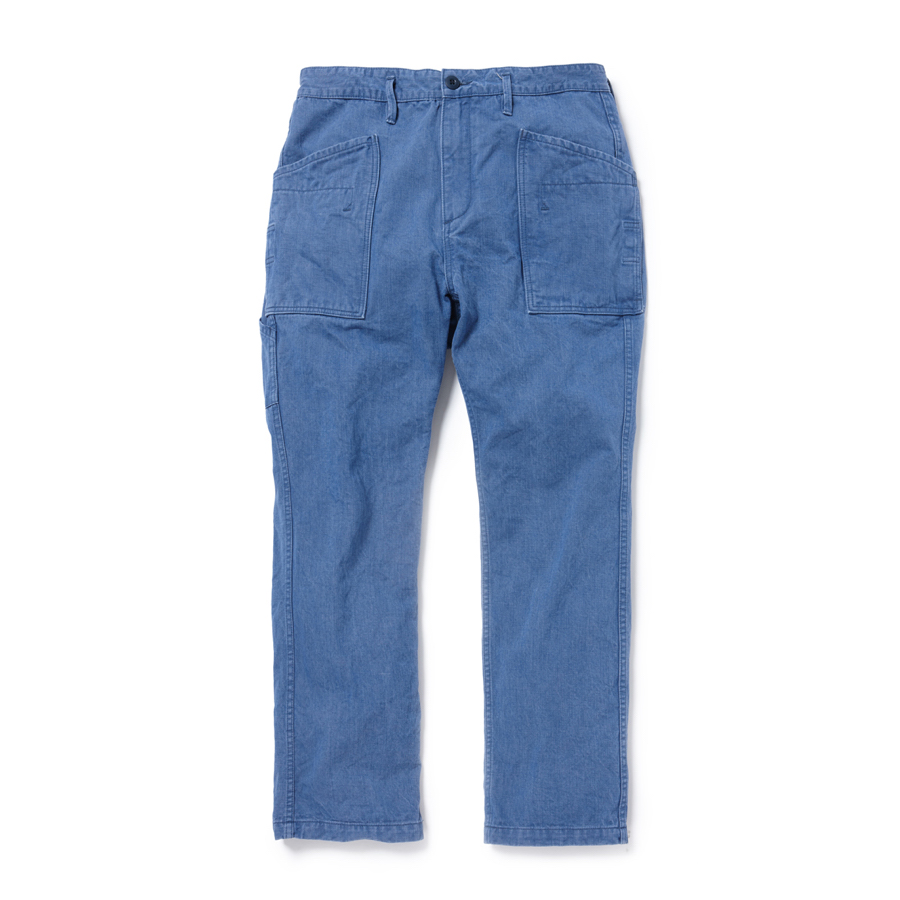 nonnative / GARDENER TROUSERS RELAX FIT COTTON CHINO DENIM -indigo