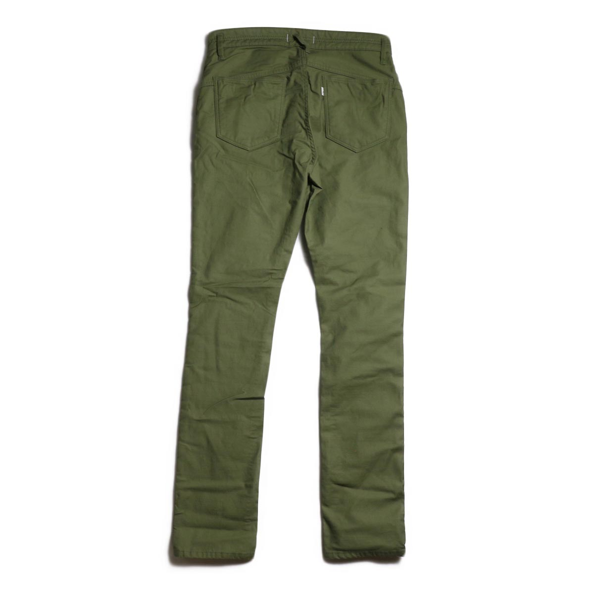 nonnative / DWELLER 5P JEANS DROPPED FIT C/P BACK SATIN STRETCH -Olive 背面