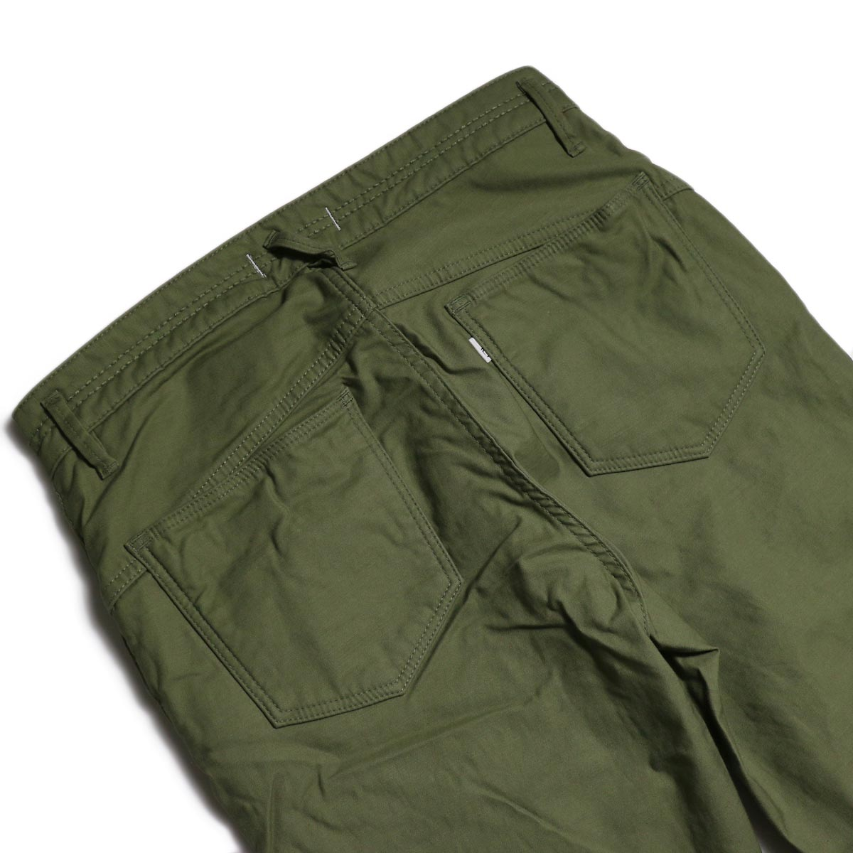 nonnative / DWELLER 5P JEANS DROPPED FIT C/P BACK SATIN STRETCH -Olive バックポケット
