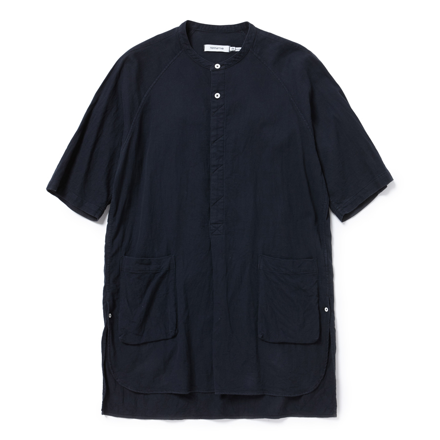 nonnative / PAINTER PULLOVER LONG SHIRT S/S COTTON DOBBY-black