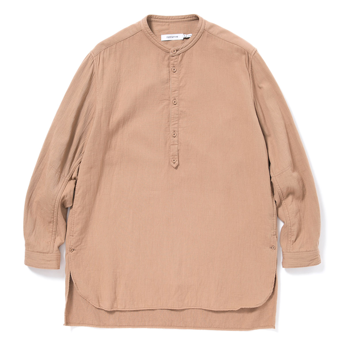nonnative / OFFICER PULLOVER SHIRT COTTON DOUBLE TWILL -BEIGE