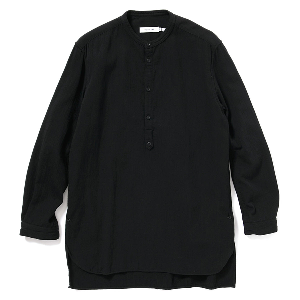 nonnative / OFFICER PULLOVER SHIRT COTTON DOUBLE TWILL -BLACK