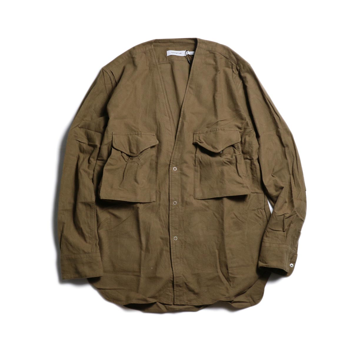 nonnative / CARPENTER SHIRT JACKET COTTON FLANNEL -Beige 正面