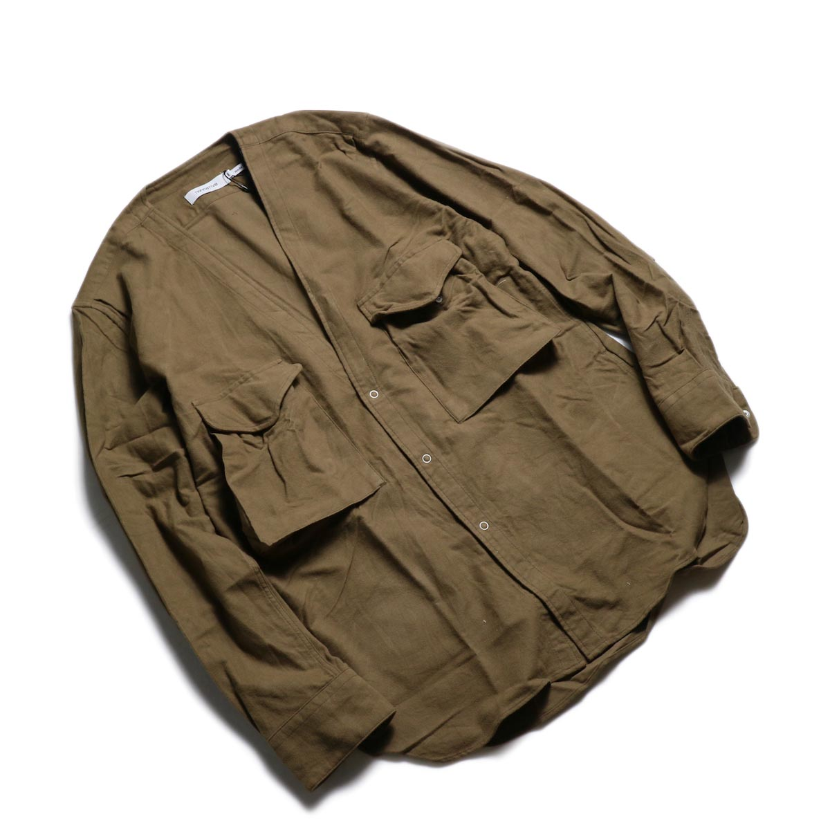 nonnative / CARPENTER SHIRT JACKET COTTON FLANNEL -Beige 全体