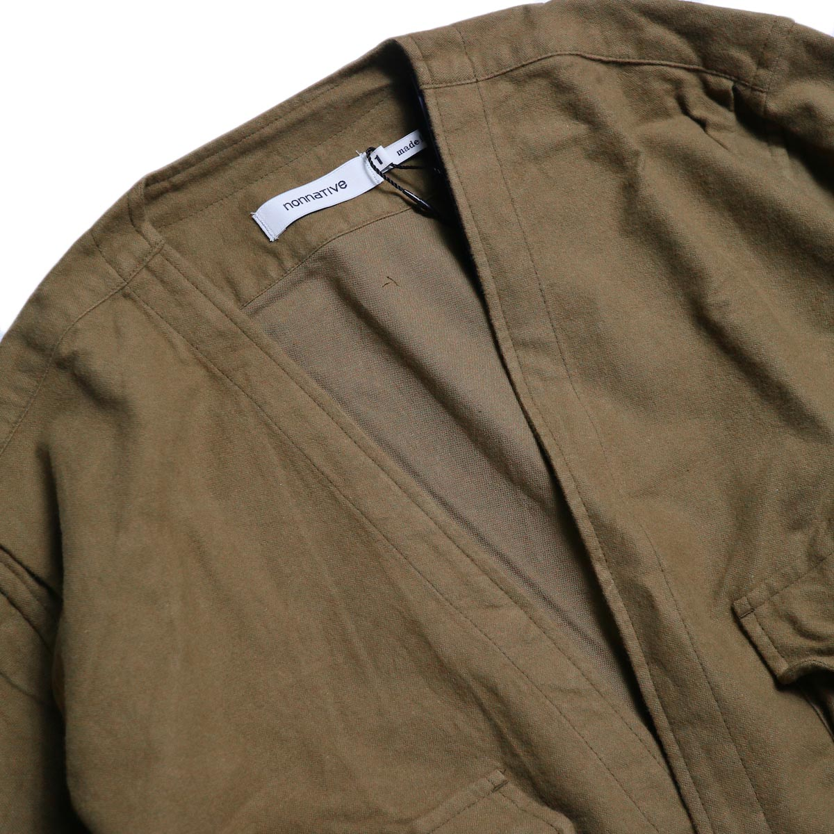 nonnative / CARPENTER SHIRT JACKET COTTON FLANNEL -Beige 襟