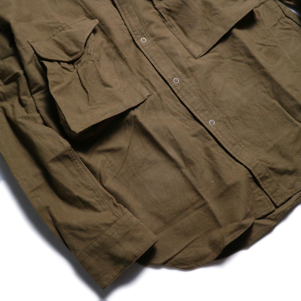 nonnative / CARPENTER SHIRT JACKET COTTON FLANNEL -Beige 裾