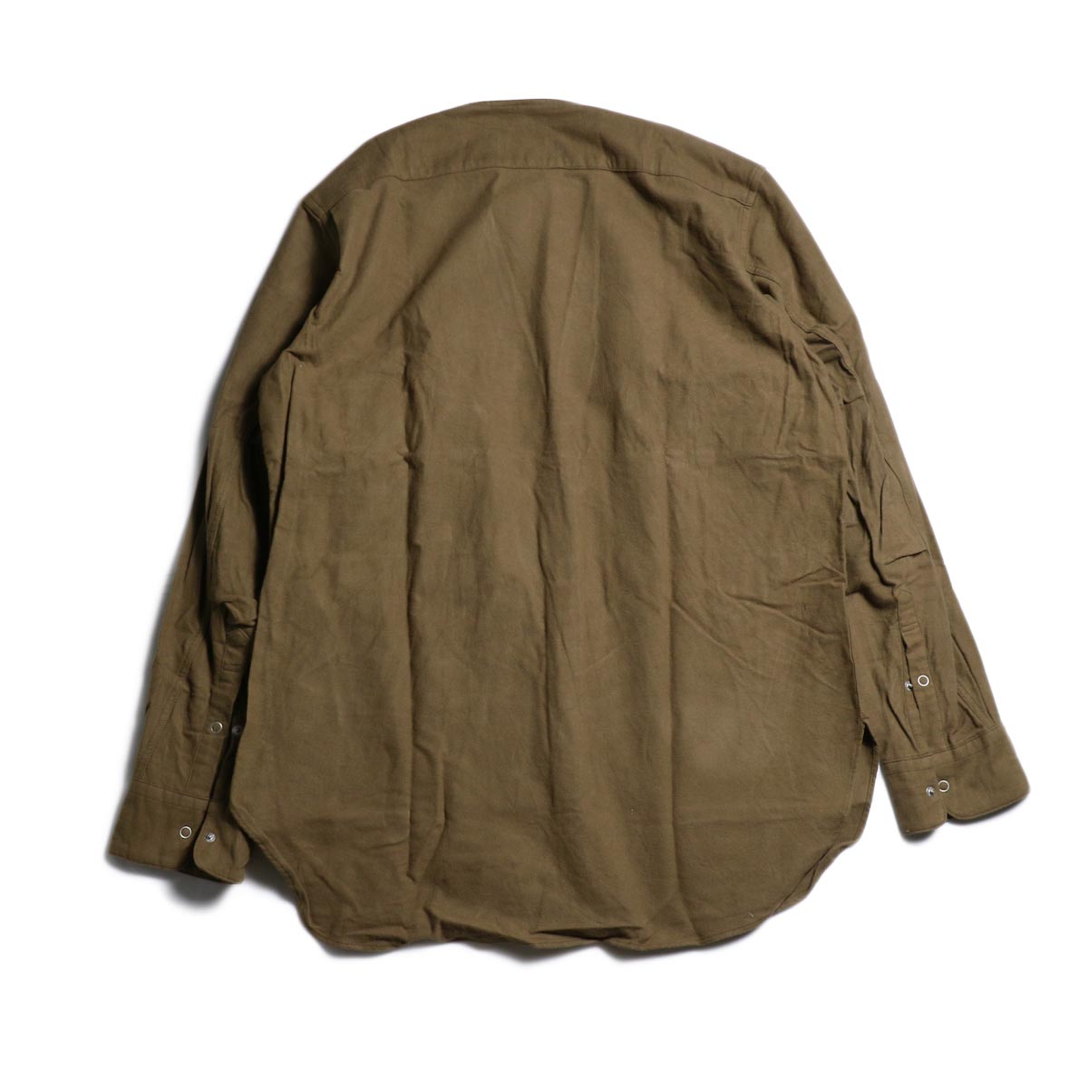 nonnative / CARPENTER SHIRT JACKET COTTON FLANNEL -Beige 背面