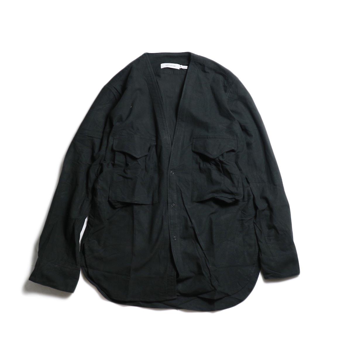 nonnative / CARPENTER SHIRT JACKET COTTON FLANNEL -Black 正面