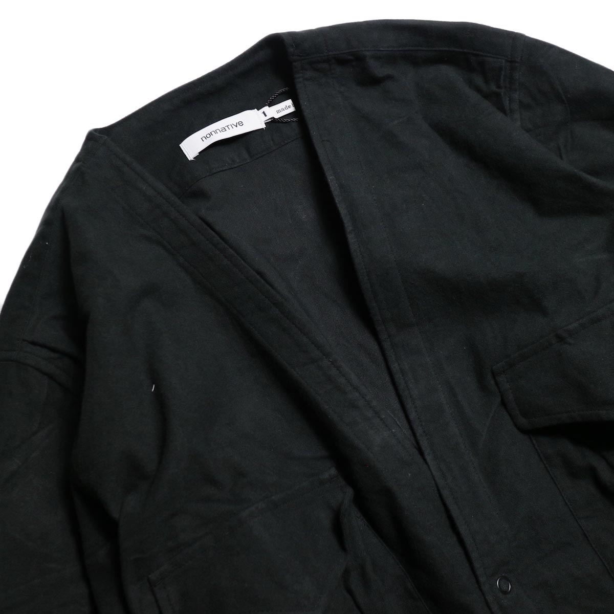 nonnative / CARPENTER SHIRT JACKET COTTON FLANNEL -Black 襟