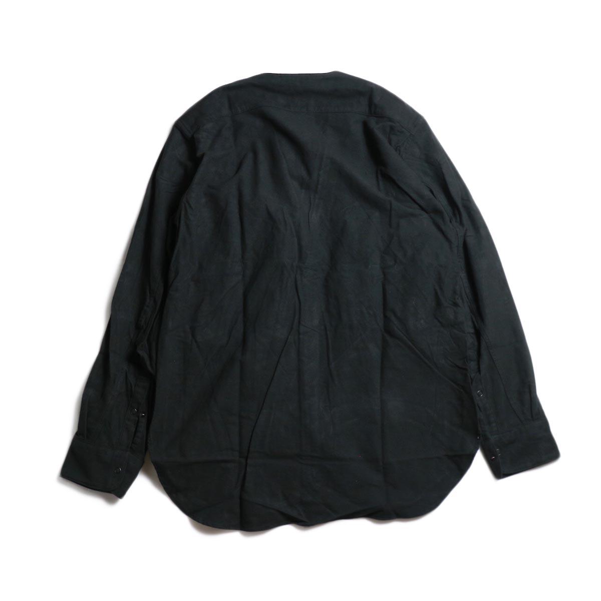 nonnative / CARPENTER SHIRT JACKET COTTON FLANNEL -Black 背面