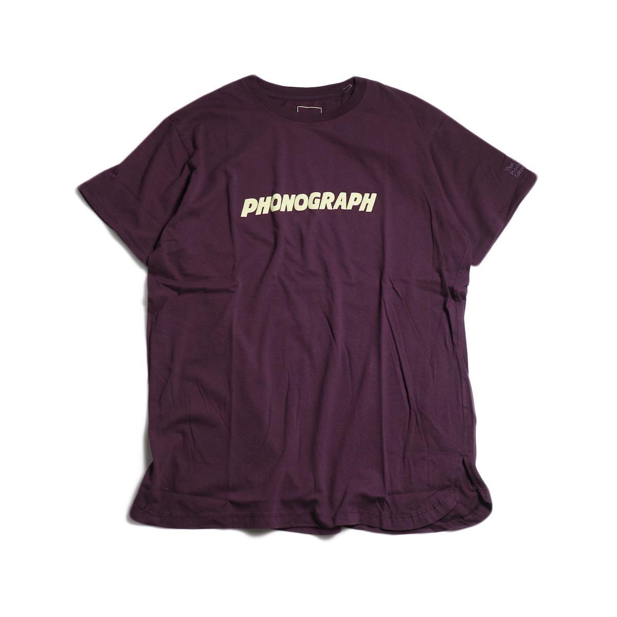 nonnative / PHONOGRAPH TEE -Bordeaux