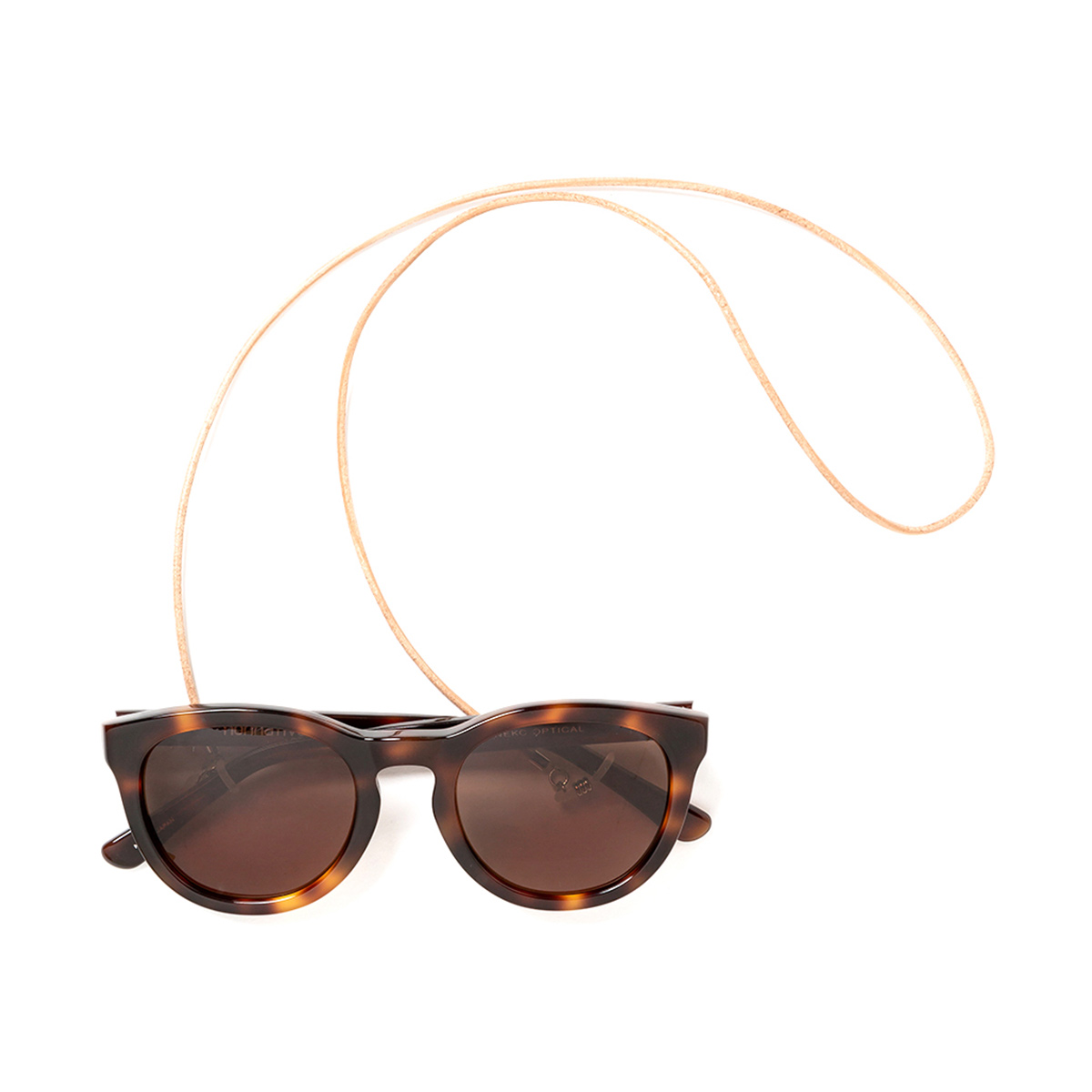 nonnative / DWELLER SUNGLASSES WITH LEATHER CODE (Brown)