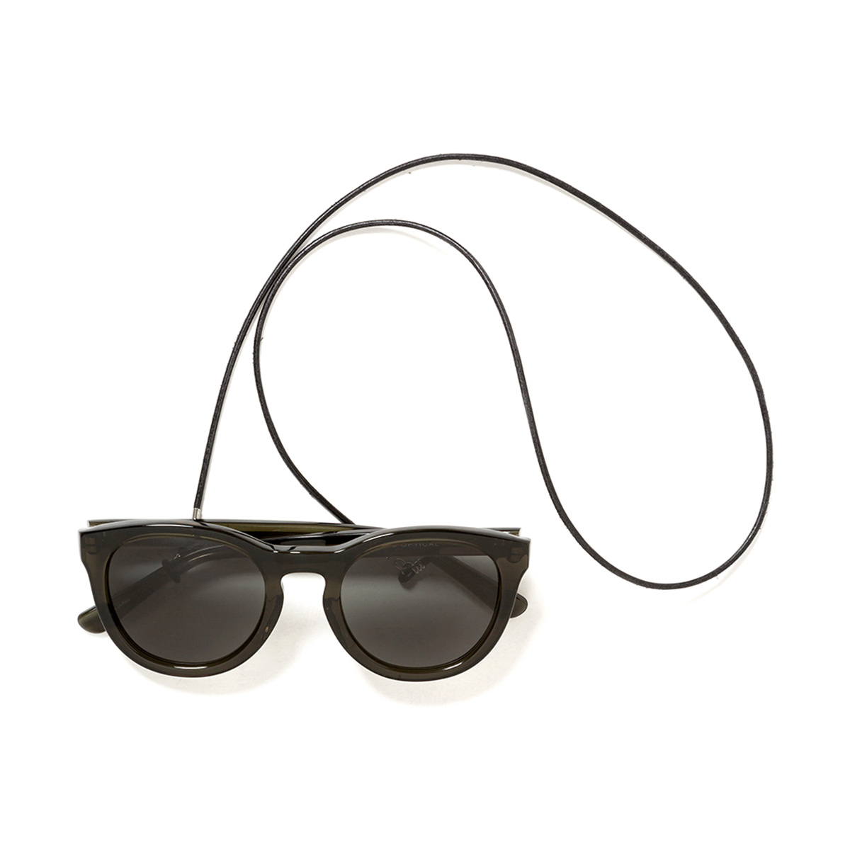 nonnative / DWELLER SUNGLASSES WITH LEATHER CODE (Dk.Olive)