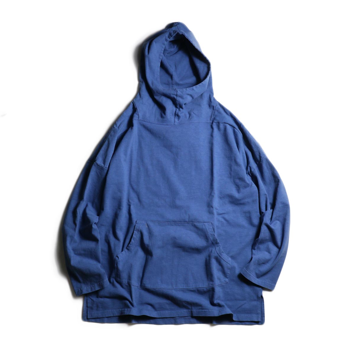 nonnative / TROOPER HOODIE COTTON SLAB JERSEY OVERDYED (Blue)