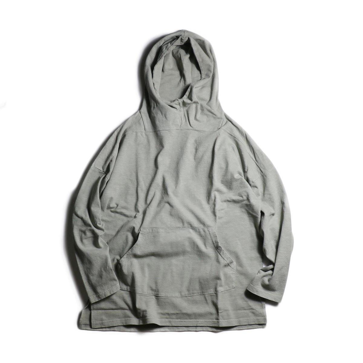 nonnative / TROOPER HOODIE COTTON SLAB JERSEY OVERDYED (Gray)