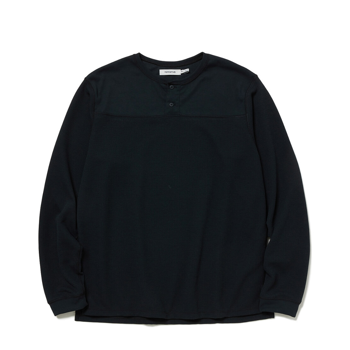 nonnative / TROOPER HENLEY NECK L/S TEE POLY THERMAL (Black)