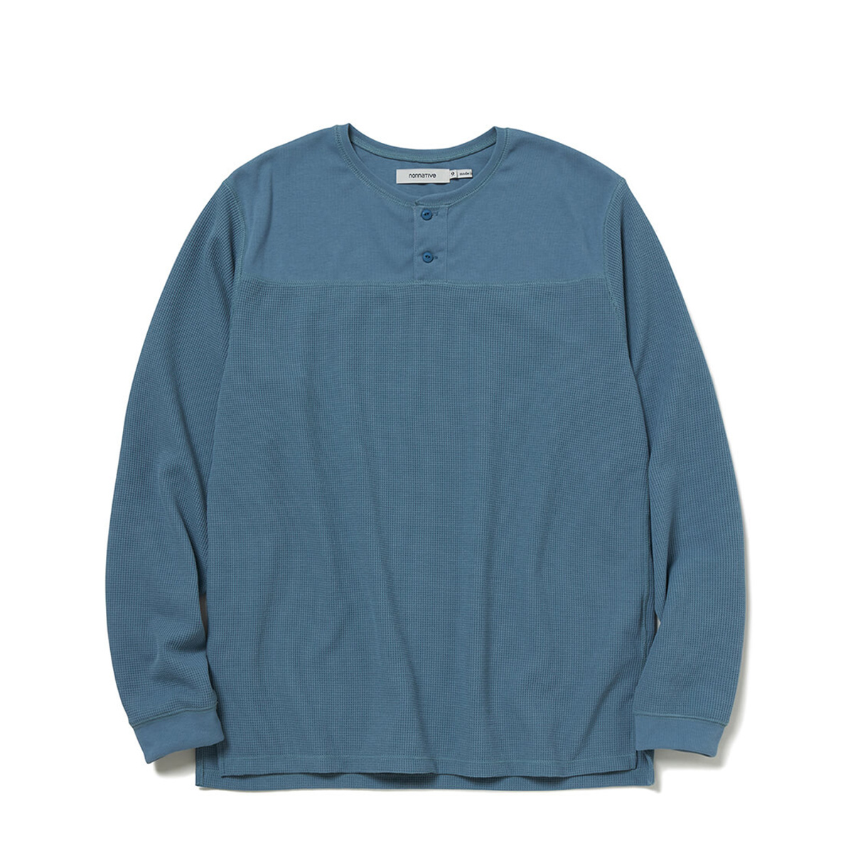 nonnative / TROOPER HENLEY NECK L/S TEE POLY THERMAL (Blue)