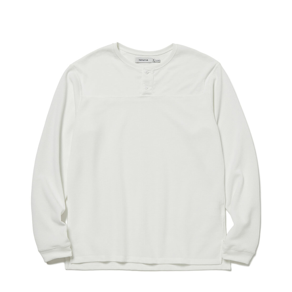 nonnative / TROOPER HENLEY NECK L/S TEE POLY THERMAL (White)