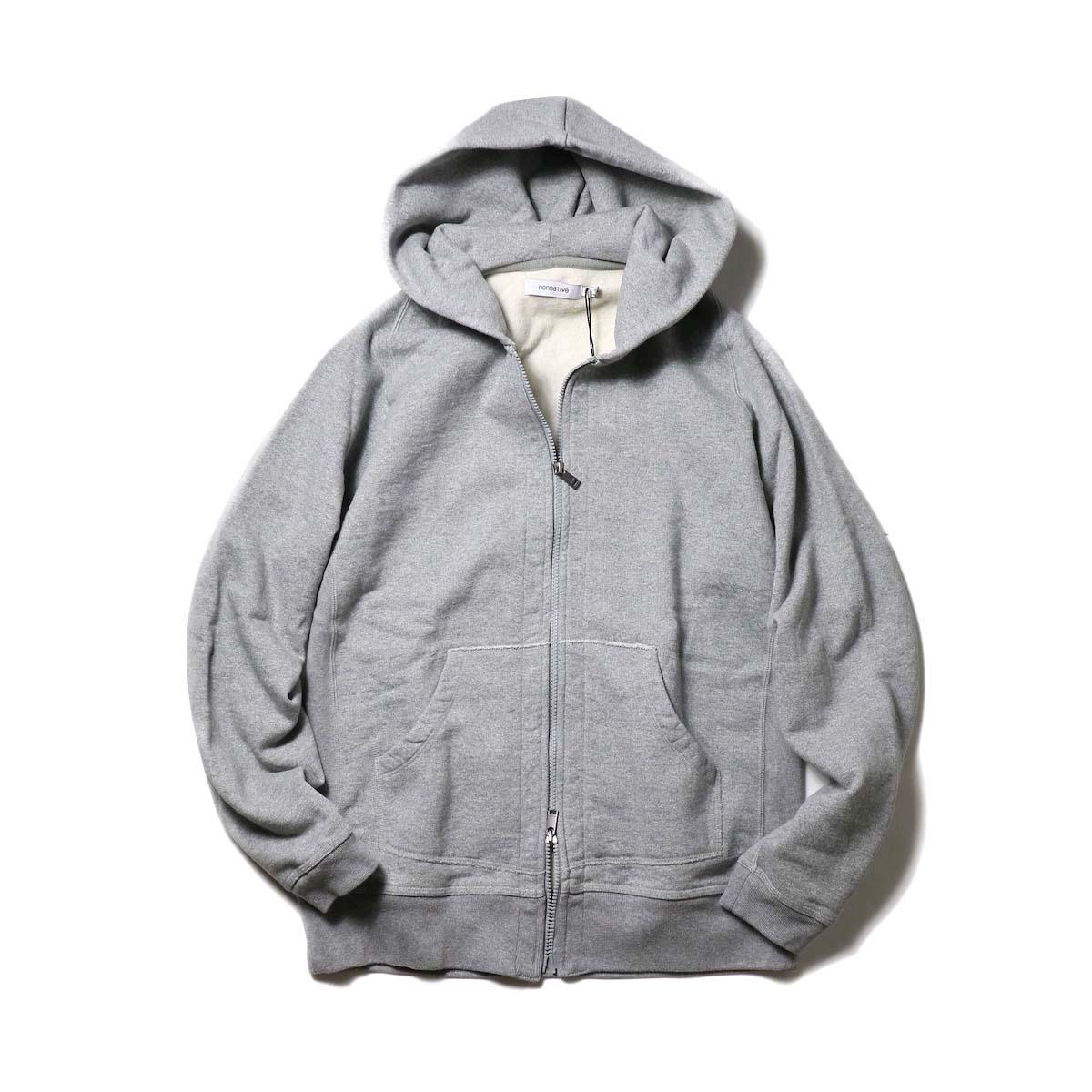 nonnative / DWELLER FULL ZIP HOODY COTTON SWEAT (Gray)