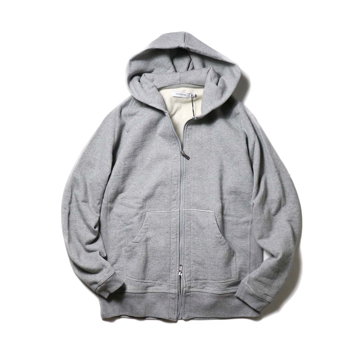 nonnative / DWELLER FULL ZIP HOODY COTTON SWEAT (Gray)