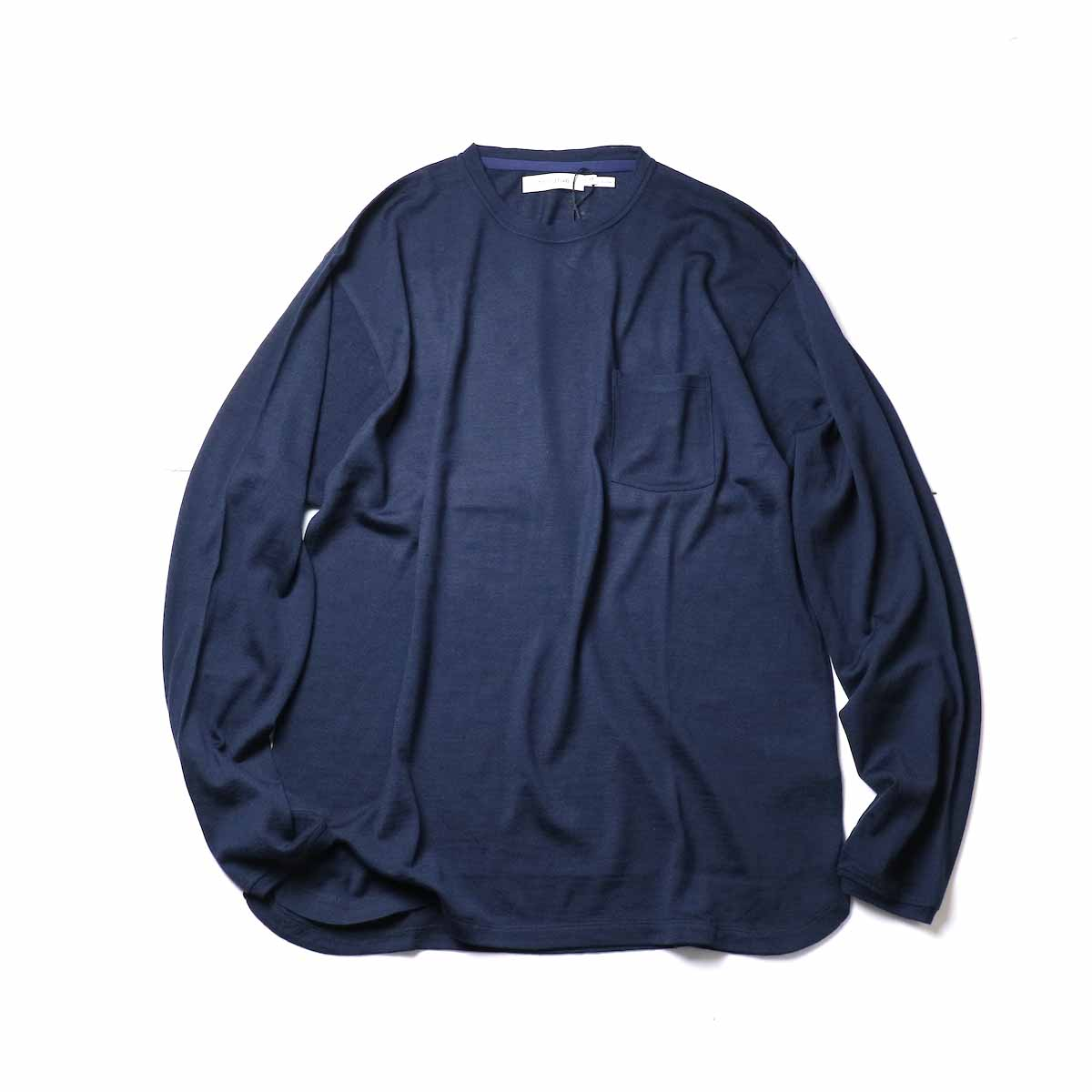 nonnative / DWELLER L/S TEE WOOL JERSEY Mt.Breath Wool (Navy)