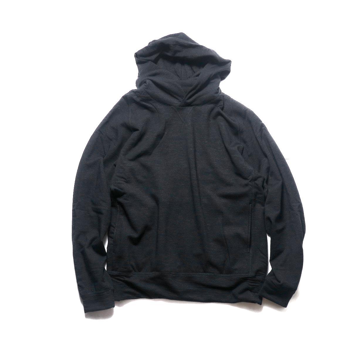 nonnative / DWELLER HOODY W/N/P HEAVY JERSEY Mt.Breath Wool® (Black)
