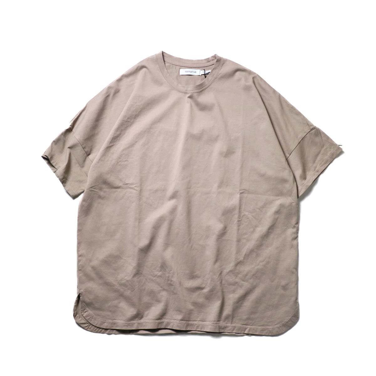 nonnative / CLERK S/S TEE COTTON JERSEY (Mole)正面