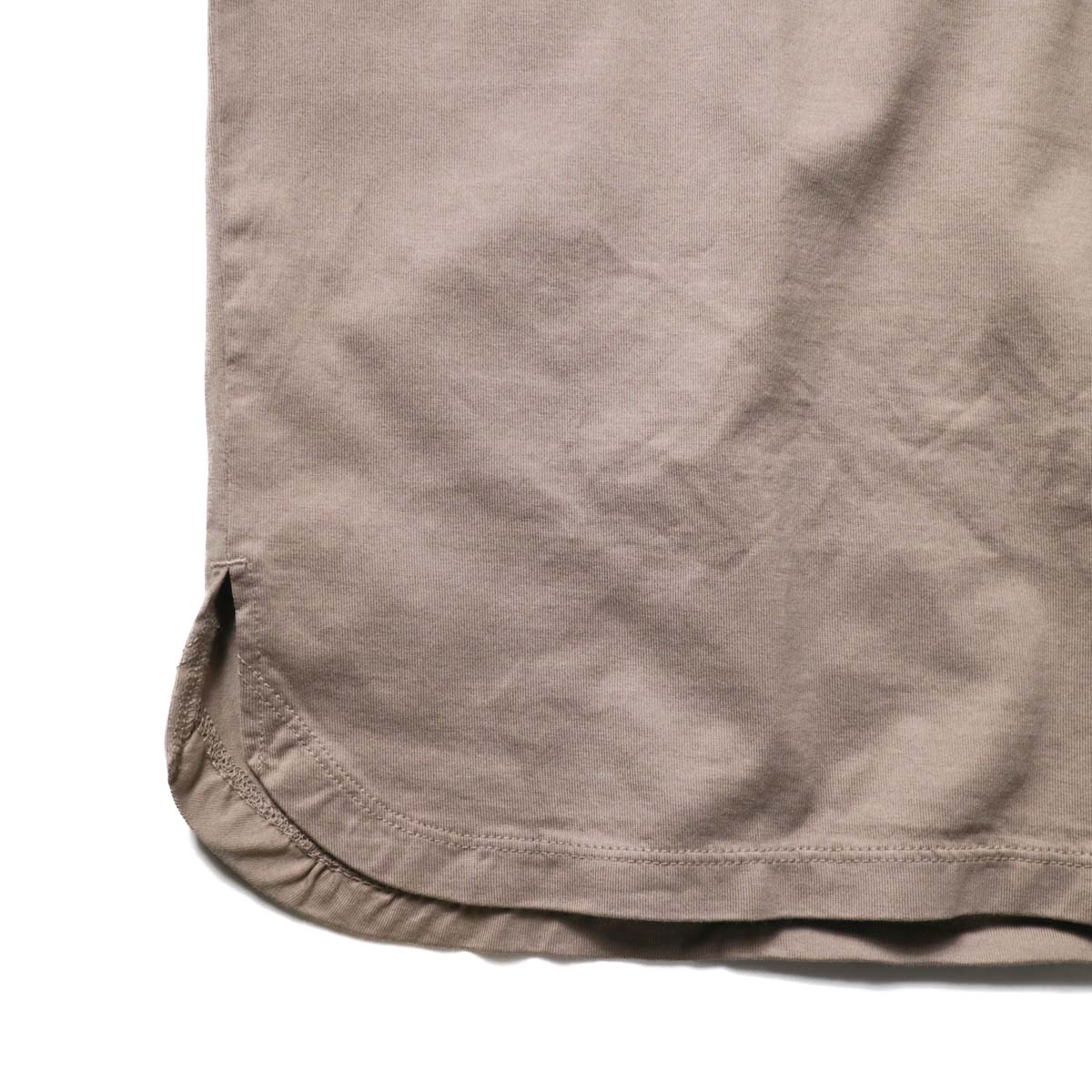 nonnative / CLERK S/S TEE COTTON JERSEY (Mole)裾