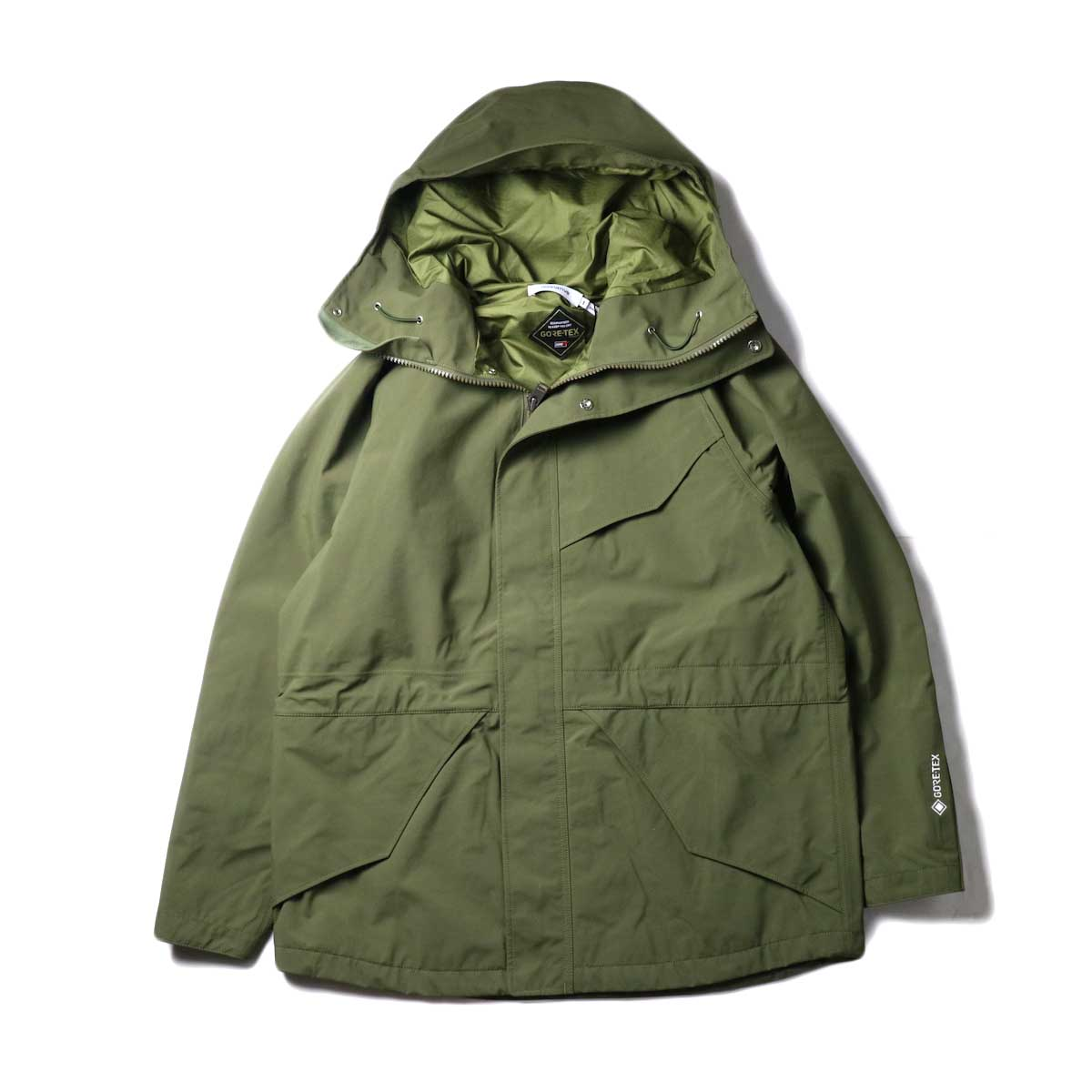 nonnative / HIKER HOODED JACKET NYLON WEATHER WITH GORE-TEX® 3L (Olive)