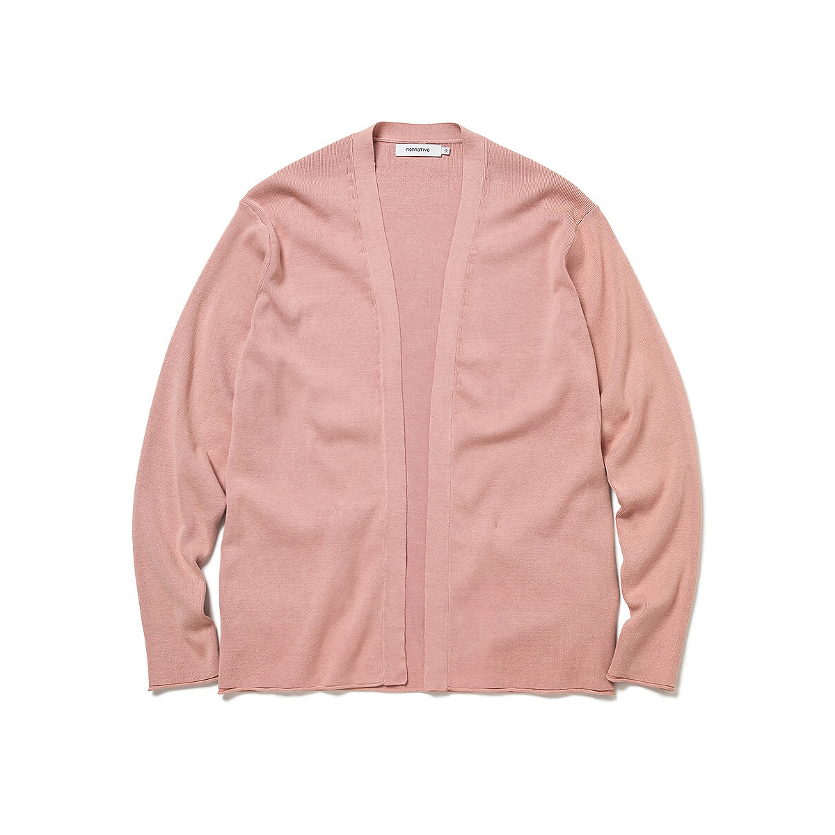 nonnative / TROOPER CARDIGAN COTTON YARN VW (Pink)正面