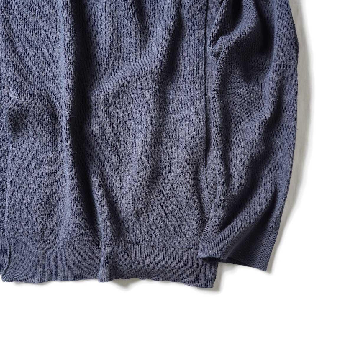 nonnative / TROOPER CARDIGAN COTTON YARN VW (Charcoal)裾、袖