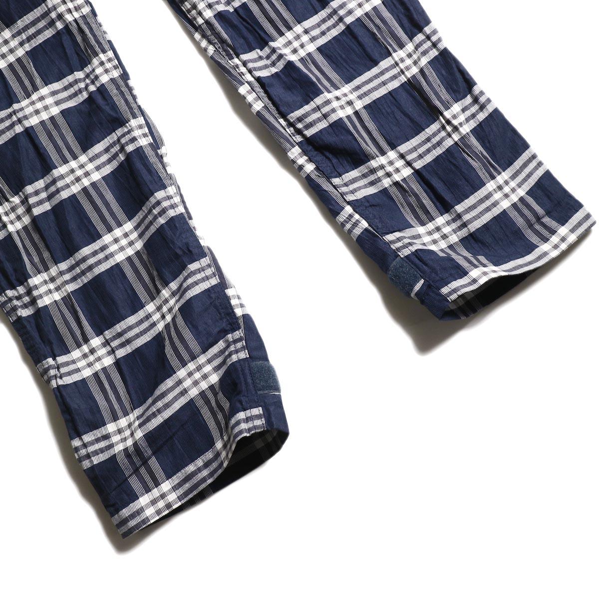nonnative / SOLDIER EASY PANTS L/C/P BROAD PLAID (Navy)裾
