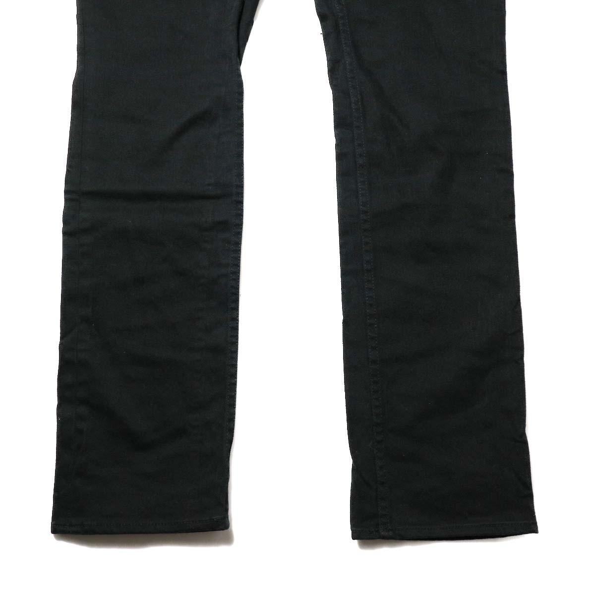 nonnative / DWELLER 5P JEANS DROPPED FIT C/P KATSURAGI STRETCH (Black)裾