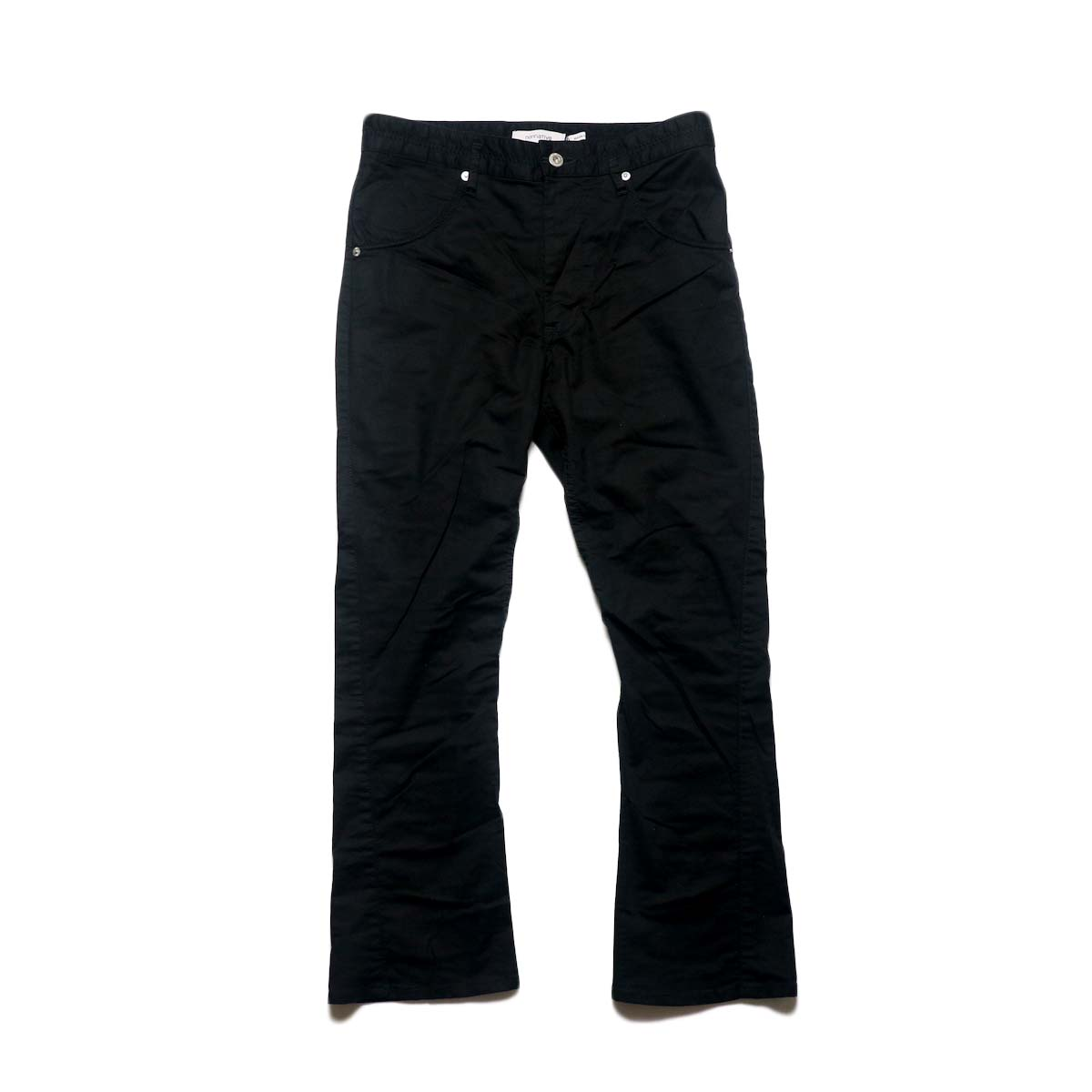 nonnative / DWELLER 5P JEANS FLARED FIT C/P BROKEN TWILL STRETCH (Black)