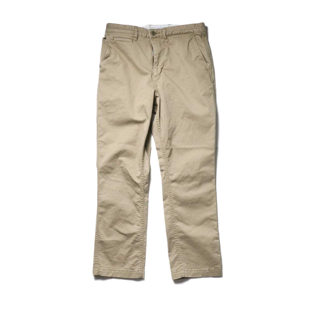 nonnative / DWELLER CHINO TROUSERS USUAL FIT C/P TWILL STRETCH VW (Beige)