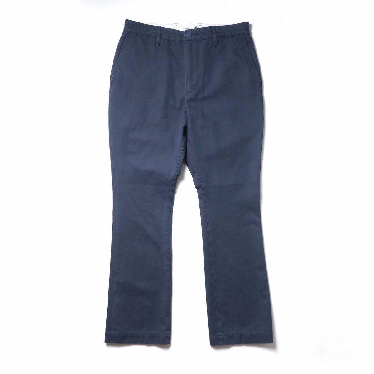 nonnative / DWELLER CHINO TROUSERS FLARED FIT COTTON HERRINGBONE TWILL VW (Navy)
