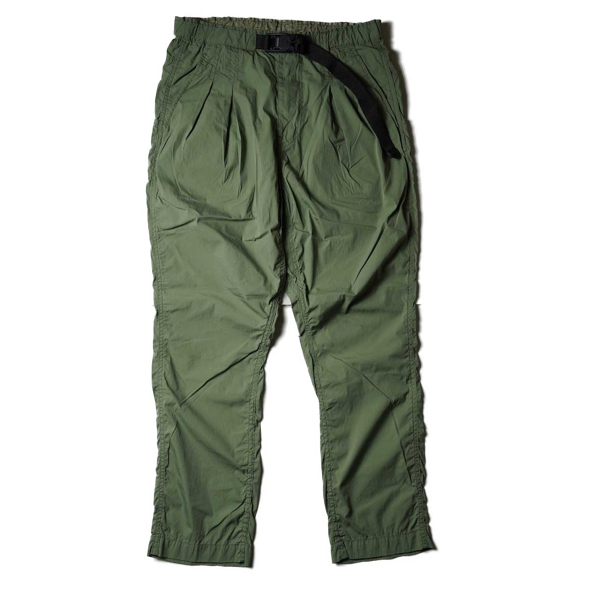 nonnative / ALPINIST EASY PANTS C/N TYPEWRITER WITH FIDLOCK® BUCKLE (Olive)正面