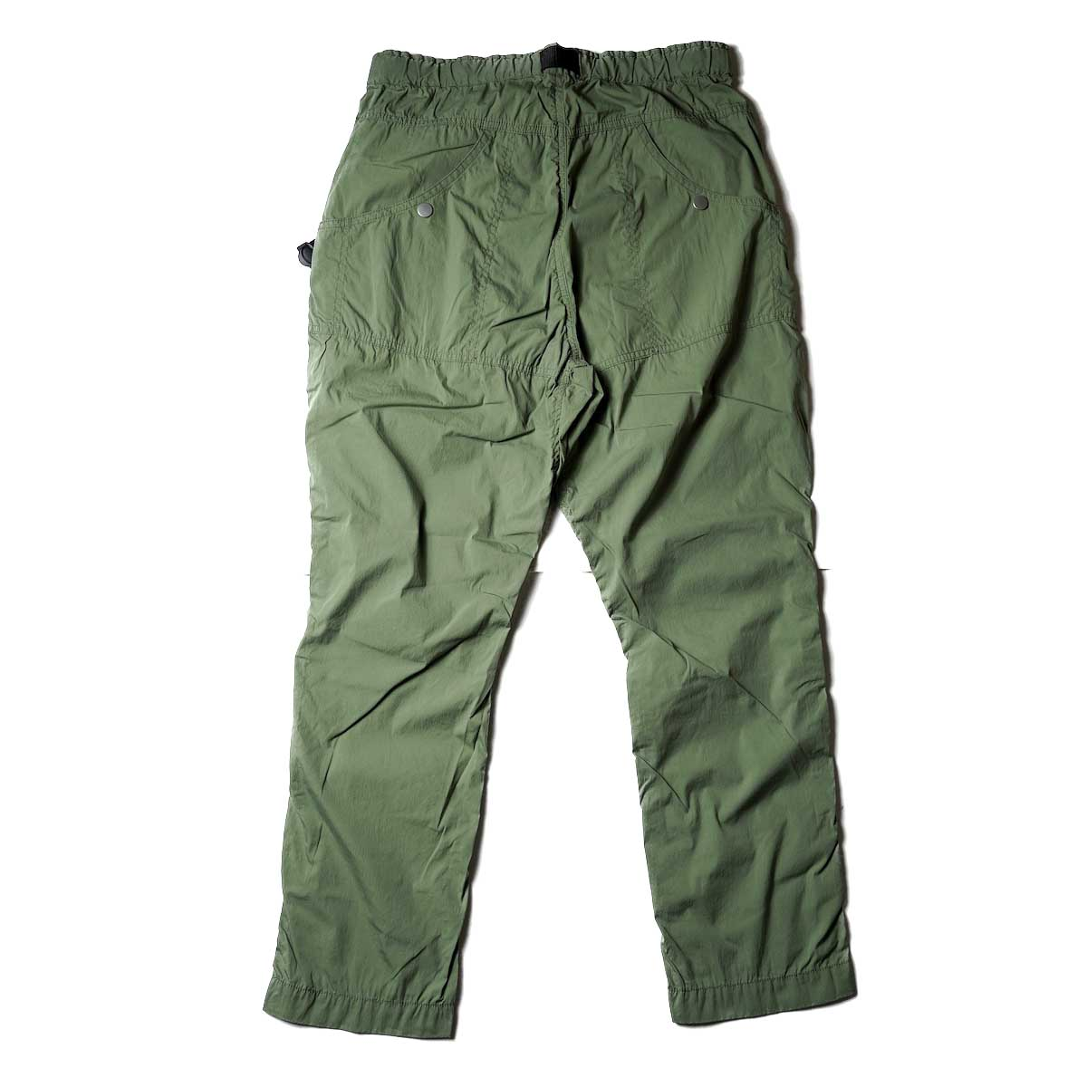 nonnative / ALPINIST EASY PANTS C/N TYPEWRITER WITH FIDLOCK® BUCKLE (Olive)背面