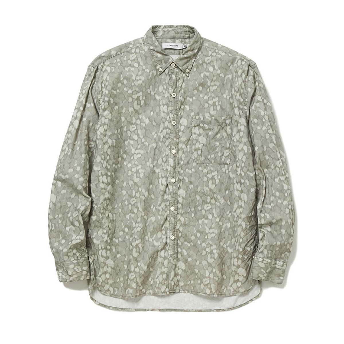 nonnative / DWELLER B.D. SHIRT RELAXED FIT COTTON OXFORD LIBERTY® PRINT (Beige)