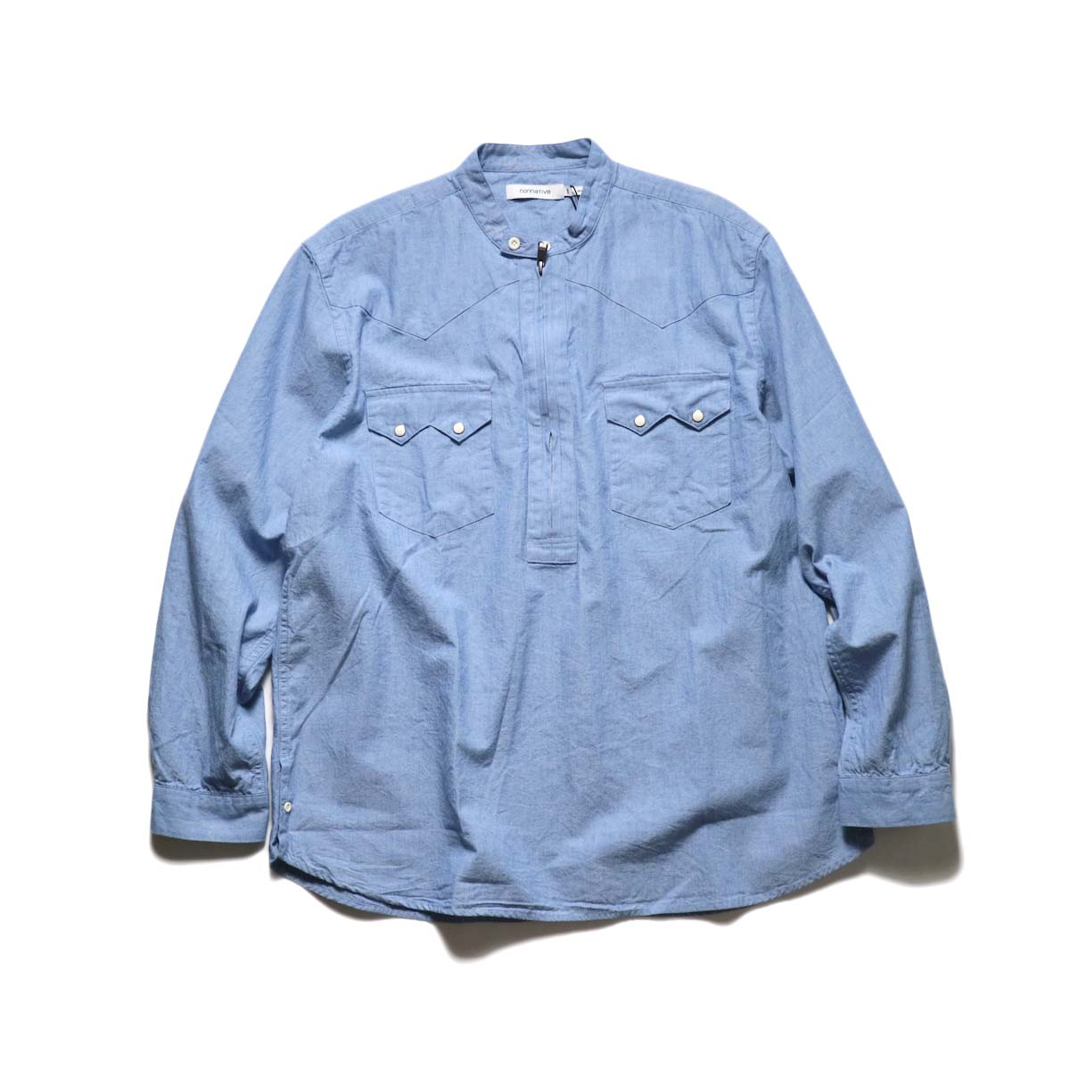 nonnative / RANCHER PULLOVER SHIRT RELAXED FIT COTTON 5oz CHAMBRAY (Sax)正面