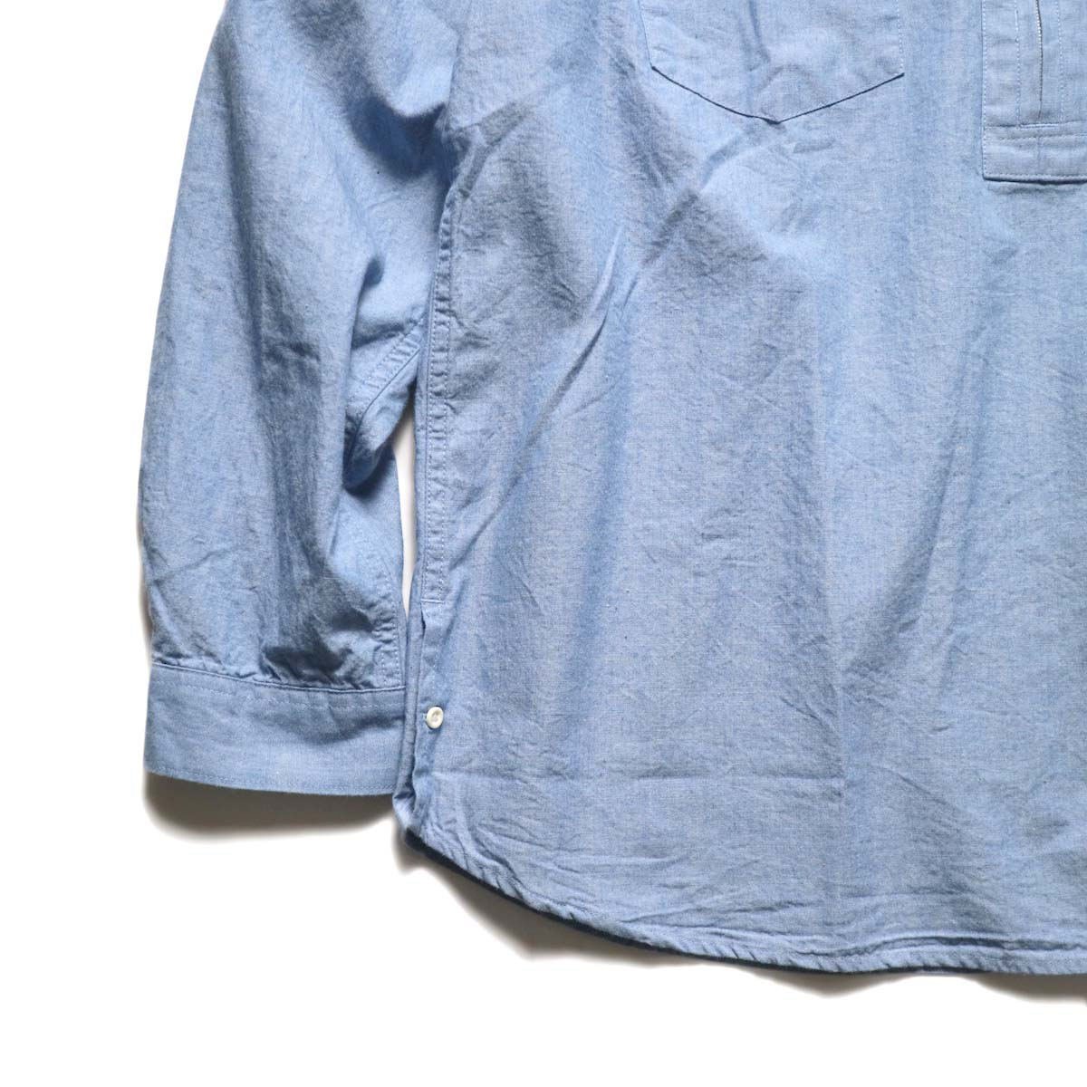 nonnative / RANCHER PULLOVER SHIRT RELAXED FIT COTTON 5oz CHAMBRAY (Sax)袖、裾