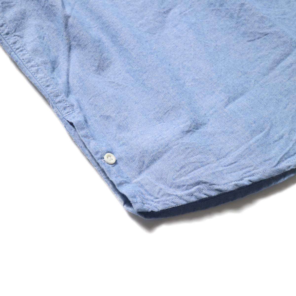 nonnative / RANCHER PULLOVER SHIRT RELAXED FIT COTTON 5oz CHAMBRAY (Sax)裾