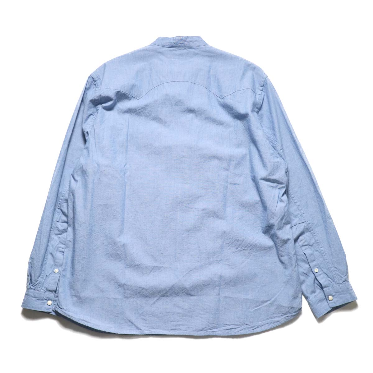 nonnative / RANCHER PULLOVER SHIRT RELAXED FIT COTTON 5oz CHAMBRAY (Sax)背面