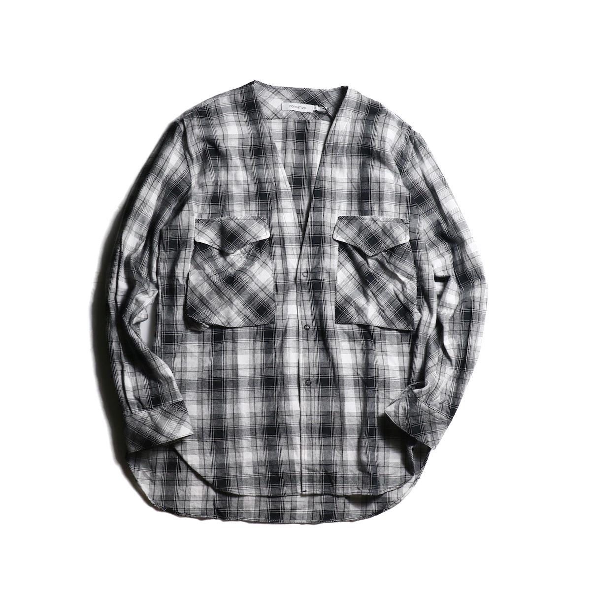 nonnative / CARPENTER SHIRT JACKET COTTON OMBRE PLAID (Black)