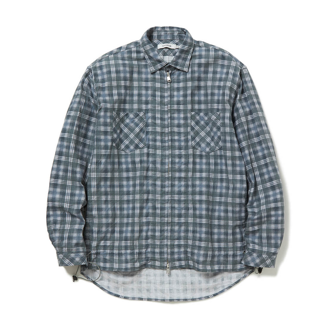 nonnative / WORKER SHIRT JACKET COTTON TWILL PLAID PRINT (Gray)