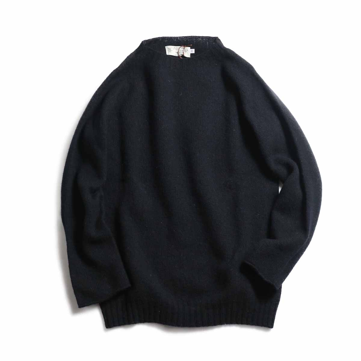 NOR'EASTERLY / L/S Crew Neck Knit -BLACK